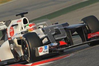 © 2012 Octane Photographic Ltd. Barcelona Winter Test 2 Day 3 - Saturday 3rd March 2012. Sauber C31 - Sergio Perez. Digital Ref : 0233cb7d9286