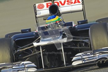 © 2012 Octane Photographic Ltd. Barcelona Winter Test 2 Day 3 - Saturday 3rd March 2012. Williams FW34 - Bruno Senna. Digital Ref : 0233cb7d9350