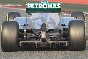 © 2012 Octane Photographic Ltd. Barcelona Winter Test Day 3 - Saturday 3rd March 2012. Mercedes W03 - Nico Rosberg. Digital Ref : 0233cb7d9566