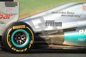 © 2012 Octane Photographic Ltd. Barcelona Winter Test Day 3 - Saturday 3rd March 2012. Mercedes W03 - Nico Rosberg. Digital Ref : 0233cb7d9611