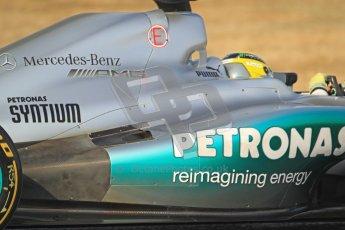 © 2012 Octane Photographic Ltd. Barcelona Winter Test Day 3 - Saturday 3rd March 2012. Mercedes W03 - Nico Rosberg. Digital Ref : 0233cb7d9613