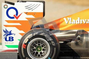 © 2012 Octane Photographic Ltd. Barcelona Winter Test 2 Day 3 - Saturday 3rd March 2012. Force India VJM05 - Paul di Resta. Digital Ref : 0233cb7d9783