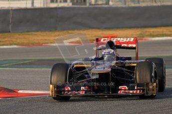 © 2012 Octane Photographic Ltd. Barcelona Winter Test 2 Day 3 - Saturday 3rd March 2012. Toro Rosso STR7 - Daniel Ricciardo. Digital Ref : 0233lw7d2509