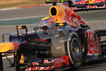© 2012 Octane Photographic Ltd. Barcelona Winter Test 2 Day 3 - Saturday 3rd March 2012. Red Bull RB8 - Mark Webber. Digital Ref : 0233lw7d2526