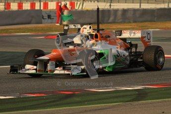 © 2012 Octane Photographic Ltd. Barcelona Winter Test 2 Day 3 - Saturday 3rd March 2012. Force India VJM05 - Paul di Resta. Digital Ref : 0233lw7d2541