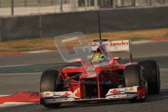 © 2012 Octane Photographic Ltd. Barcelona Winter Test 2 Day 3 - Saturday 3rd March 2012. Ferrari F2012 - Felipe Massa. Digital Ref : 0233lw7d2574