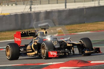 © 2012 Octane Photographic Ltd. Barcelona Winter Test 2 Day 3 - Saturday 3rd March 2012. Lotus E20 - Kimi Raikkonen. Digital Ref : 0233lw7d2652
