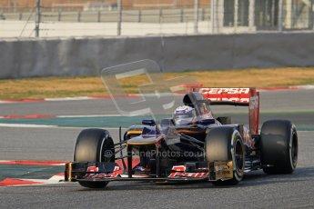 © 2012 Octane Photographic Ltd. Barcelona Winter Test 2 Day 3 - Saturday 3rd March 2012. Toro Rosso STR7 - Daniel Ricciardo. Digital Ref : 0233lw7d2755