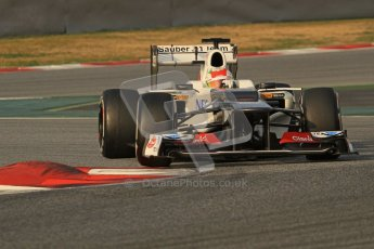 © 2012 Octane Photographic Ltd. Barcelona Winter Test 2 Day 3 - Saturday 3rd March 2012. Sauber C31 - Sergio Perez. Digital Ref : 0233lw7d2790