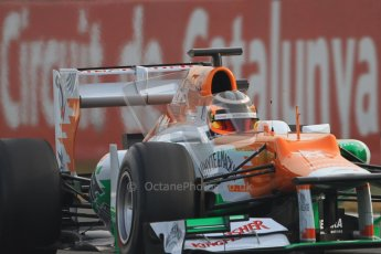 © 2012 Octane Photographic Ltd. Barcelona Winter Test 2 Day 4 - Sunday 4th March 2012. Force India VJM05 - Nico Hulkenberg. Digital Ref : 0234cb7d0023