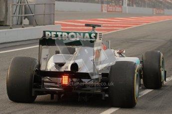 © 2012 Octane Photographic Ltd. Barcelona Winter Test Day 4 - Sunday 4th March 2012. Mercedes W03 - Michael Schumacher. Digital Ref : 0234lw7d3909
