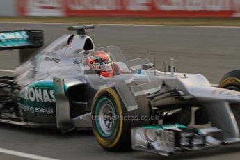 © 2012 Octane Photographic Ltd. Barcelona Winter Test Day 4 - Sunday 4th March 2012. Mercedes W03 - Michael Schumacher. Digital Ref : 0234lw7d4259