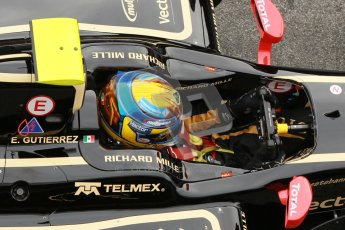 © Octane Photographic Ltd. GP2 Winter testing Barcelona Day 1, Tuesday 6th March 2012. Lotus GP, Esteban Gutierrez. Digital Ref :