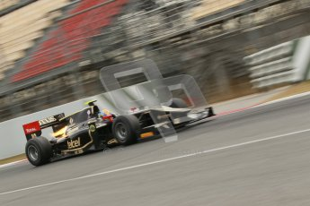 © Octane Photographic Ltd. GP2 Winter testing Barcelona Day 1, Tuesday 6th March 2012. Lotus GP, Esteban Gutierrez. Digital Ref : 0235cb1d3650