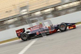 © Octane Photographic Ltd. GP2 Winter testing Barcelona Day 1, Tuesday 6th March 2012. Venezuela GP Lazarus, Giancarlo Senerelli. Digital Ref : 0235cb1d3665