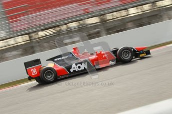 © Octane Photographic Ltd. GP2 Winter testing Barcelona Day 1, Tuesday 6th March 2012. Marussia Carlin, Max Chilton. Digital Ref : 0235cb1d3753
