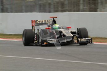 © Octane Photographic Ltd. GP2 Winter testing Barcelona Day 1, Tuesday 6th March 2012. Lotus GP, James Calado, Racing Steps. Digital Ref : 0235cb7d0195