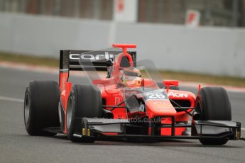 © Octane Photographic Ltd. GP2 Winter testing Barcelona Day 1, Tuesday 6th March 2012. Marussia Carlin, Max Chilton. Digital Ref : 0235cb7d0231