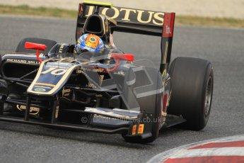 © Octane Photographic Ltd. GP2 Winter testing Barcelona Day 1, Tuesday 6th March 2012. Lotus GP, Esteban Gutierrez. Digital Ref : 0235cb7d0455