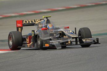 © Octane Photographic Ltd. GP2 Winter testing Barcelona Day 1, Tuesday 6th March 2012. Lotus GP, Esteban Gutierrez. Digital Ref : 0235cb7d0578