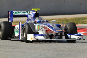 © Octane Photographic Ltd. GP2 Winter testing Barcelona Day 1, Tuesday 6th March 2012. Trident Racing, Julian Leal. Digital Ref : 0235cb7d1144