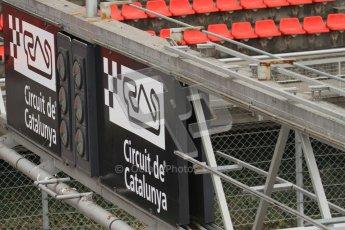 © Octane Photographic Ltd. GP2 Winter testing Barcelona Day 1, Tuesday 6th March 2012. Barcelona start finish light gantry. Digital Ref : 0235lw7d5337
