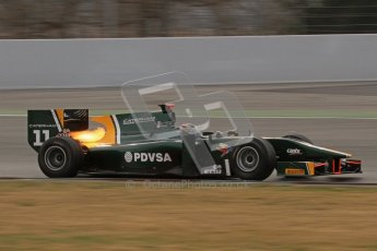 © Octane Photographic Ltd. GP2 Winter testing Barcelona Day 1, Tuesday 6th March 2012. Caterham Racing, Rodolfo Gonzales. Digital Ref : 0235lw7d5588