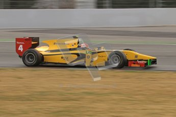© Octane Photographic Ltd. GP2 Winter testing Barcelona Day 1, Tuesday 6th March 2012. DAMS, Felipe Nasr. Digital Ref :