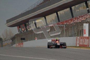 © Octane Photographic Ltd. GP2 Winter testing Barcelona Day 1, Tuesday 6th March 2012. Venezuela GP Lazarus, Giancarlo Senerelli. Digital Ref : 0235lw7d5860