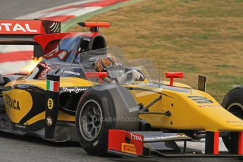 © Octane Photographic Ltd. GP2 Winter testingBarcelona Day 1, Tuesday 6th March 2012. DAMS, Davide Valsecchi. Digital Ref : 0235lw7d6008