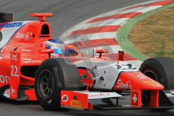 © Octane Photographic Ltd. GP2 Winter testing Barcelona Day 1, Tuesday 6th March 2012. Arden International, Simon Trummer. Digital Ref : 0235lw7d6026