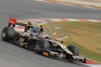 © Octane Photographic Ltd. GP2 Winter testing Barcelona Day 1, Tuesday 6th March 2012. Lotus GP, Esteban Gutierrez. Digital Ref : 0235lw7d6183
