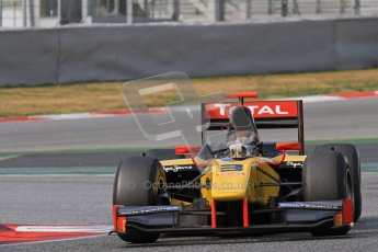 © Octane Photographic Ltd. GP2 Winter testing Barcelona Day 1, Tuesday 6th March 2012. DAMS, Davide Valsecchi. Digital Ref : 0235lw7d7000