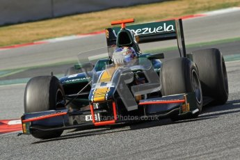 © Octane Photographic Ltd. GP2 Winter testing Barcelona Day 1, Tuesday 6th March 2012. Caterham Racing, Rodolfo Gonzales. Digital Ref : 0235lw7d7367
