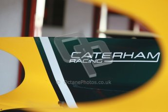 © Octane Photographic Ltd. GP2 Winter testing Barcelona Day 2, Wednesday 7th March 2012. Caterham Racing airboxes. Digital Ref : 0236cb1d4020