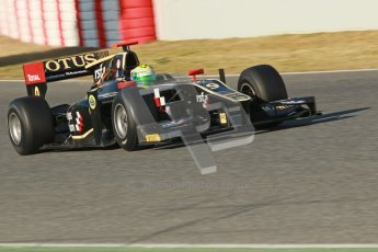 © Octane Photographic Ltd. GP2 Winter testing Barcelona Day 2, Wednesday 7th March 2012. Lotus GP, Esteban Gutierrez. Digital Ref : 0236cb1d4295