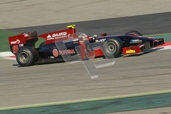 © Octane Photographic Ltd. GP2 Winter testing Barcelona Day 2, Wednesday 7th March 2012. Venezuela GP Lazarus, Giancarlo Senerelli. Digital Ref : 0236cb1d4649