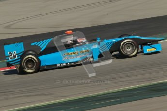 © Octane Photographic Ltd. GP2 Winter testing Barcelona Day 2, Wednesday 7th March 2012. Ocean Racing Technology, Jon Lancaster. Digital Ref : 0236cb1d4688