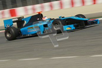 © Octane Photographic Ltd. GP2 Winter testing Barcelona Day 2, Wednesday 7th March 2012. Ocean Racing Technology, Jon Lancaster. Digital Ref : 0236cb1d4845