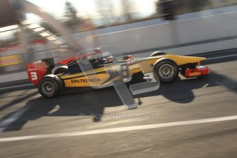 © Octane Photographic Ltd. GP2 Winter testing Barcelona Day 2, Wednesday 7th March 2012. DAMS, Davide Valsecchi. Digital Ref : 0236cb7d1704