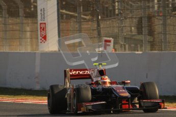 © Octane Photographic Ltd. GP2 Winter testing Barcelona Day 2, Wednesday 7th March 2012. Venezuela GP Lazarus, Giancarlo Senerelli. Digital Ref : 0236lw7d8657