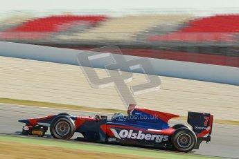 © Octane Photographic Ltd. GP2 Winter testing Barcelona Day 3, Thursday 8th March 2012. iSport International, Marcus Ericsson. Digital Ref : 0237cb1d5741