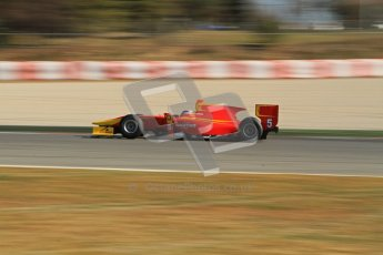 © Octane Photographic Ltd. GP2 Winter testing Barcelona Day 3, Thursday 8th March 2012. Racing Engineering, Fabio Leimer. Digital Ref : 0237lw7d0179
