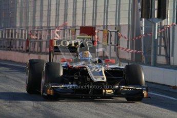 © Octane Photographic Ltd. GP2 Winter testing Barcelona Day 3, Thursday 8th March 2012. Lotus GP, Esteban Gutierrez. Digital Ref : 0237lw7d9287
