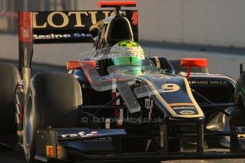 © Octane Photographic Ltd. GP2 Winter testing Barcelona Day 3, Thursday 8th March 2012. Lotus GP, James Calado, Racing Steps. Digital Ref : 0237lw7d9299