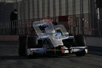 © Octane Photographic Ltd. GP2 Winter testing Barcelona Day 3, Thursday 8th March 2012. Barwa Addax Team, Johnny Cecotto Jnr. Digital Ref : 0237lw7d9408