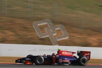 © Octane Photographic Ltd. GP2 Winter testing BarcelonaDay 3, Thursday 8th March 2012. Venezuela GP Lazarus, Giancarlo Senerelli. Digital Ref : 0237lw7d9703