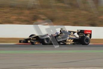© Octane Photographic Ltd. GP2 Winter testing Barcelona Day 3, Thursday 8th March 2012. Lotus GP, Esteban Gutierrez. Digital Ref : 0237lw7d9709