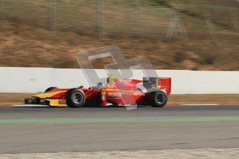 © Octane Photographic Ltd. GP2 Winter testing Barcelona Day 3, Thursday 8th March 2012. Racing Engineering, Nathanael Berthon. Digital Ref : 0237lw7d9731