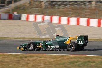 © Octane Photographic Ltd. GP2 Winter testing Barcelona Day 3, Thursday 8th March 2012. Caterham Racing, Rodolfo Gonzales. Digital Ref : 0237lw7d9794